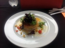 one of the beautiful dishes from the Celebrity chef cook off